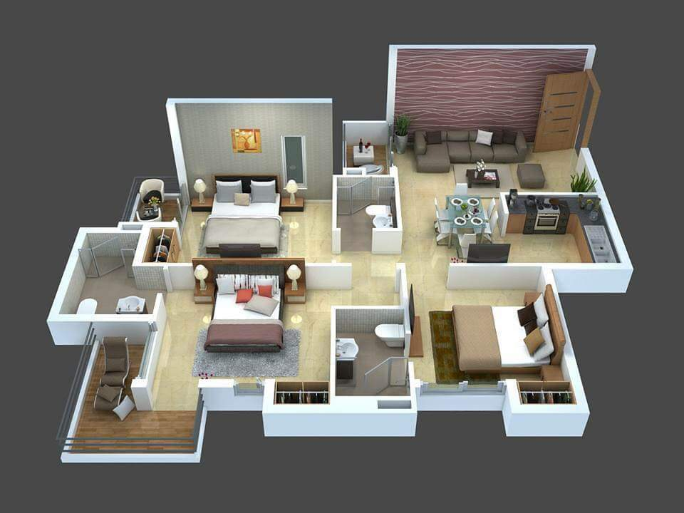 Modern single story apartment for rent