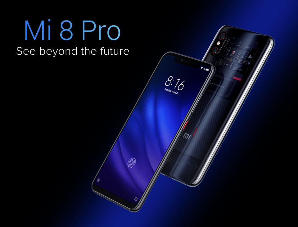 Wholesale Xiaomi Mi 8 Pro 8+128 Smartphone Black From China