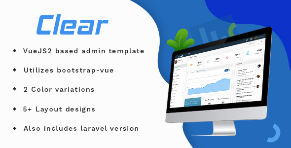 Vue Bootstrap Admin Template -CLear