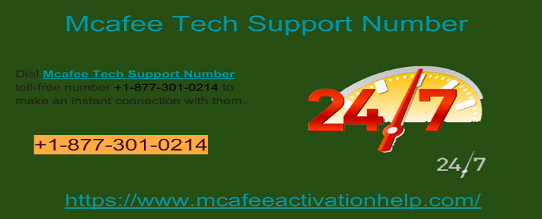 Resolve Customer Issues On +18773010214 McAfee Customer Support Number