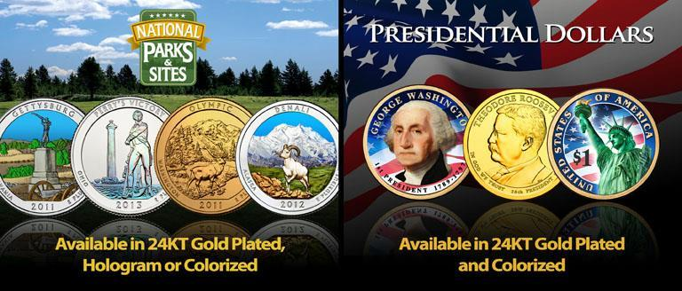 24K Gold Plated Coins