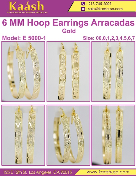 Stylish Design Hoop Earrings For women & Girls
