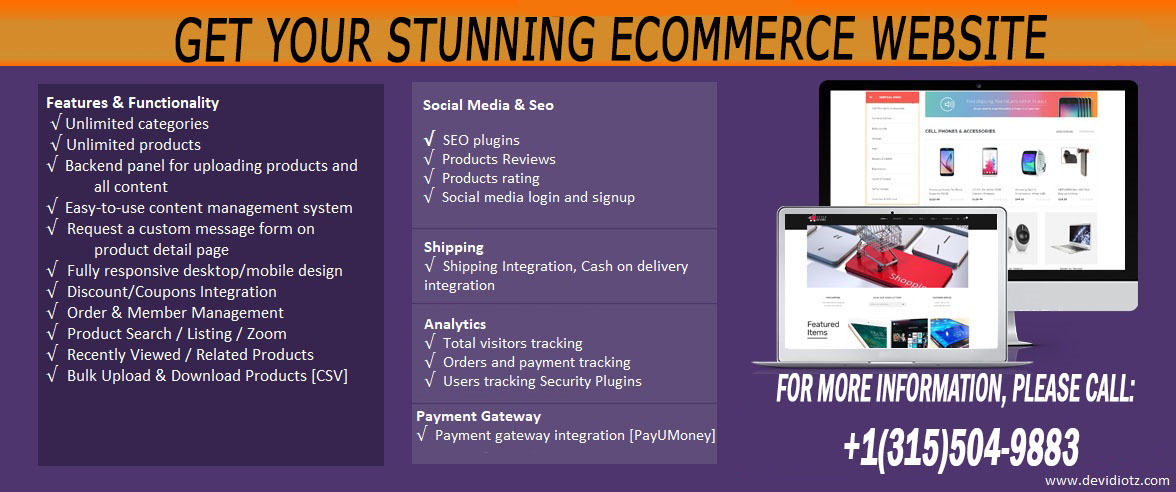 Get Your Stunning eCommerce