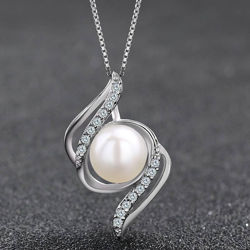Sterling Silver Freshwater Pearl Pendant Necklace