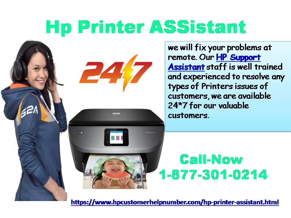 To help your HP printer Assistant Issue And Error as Toll-Free.