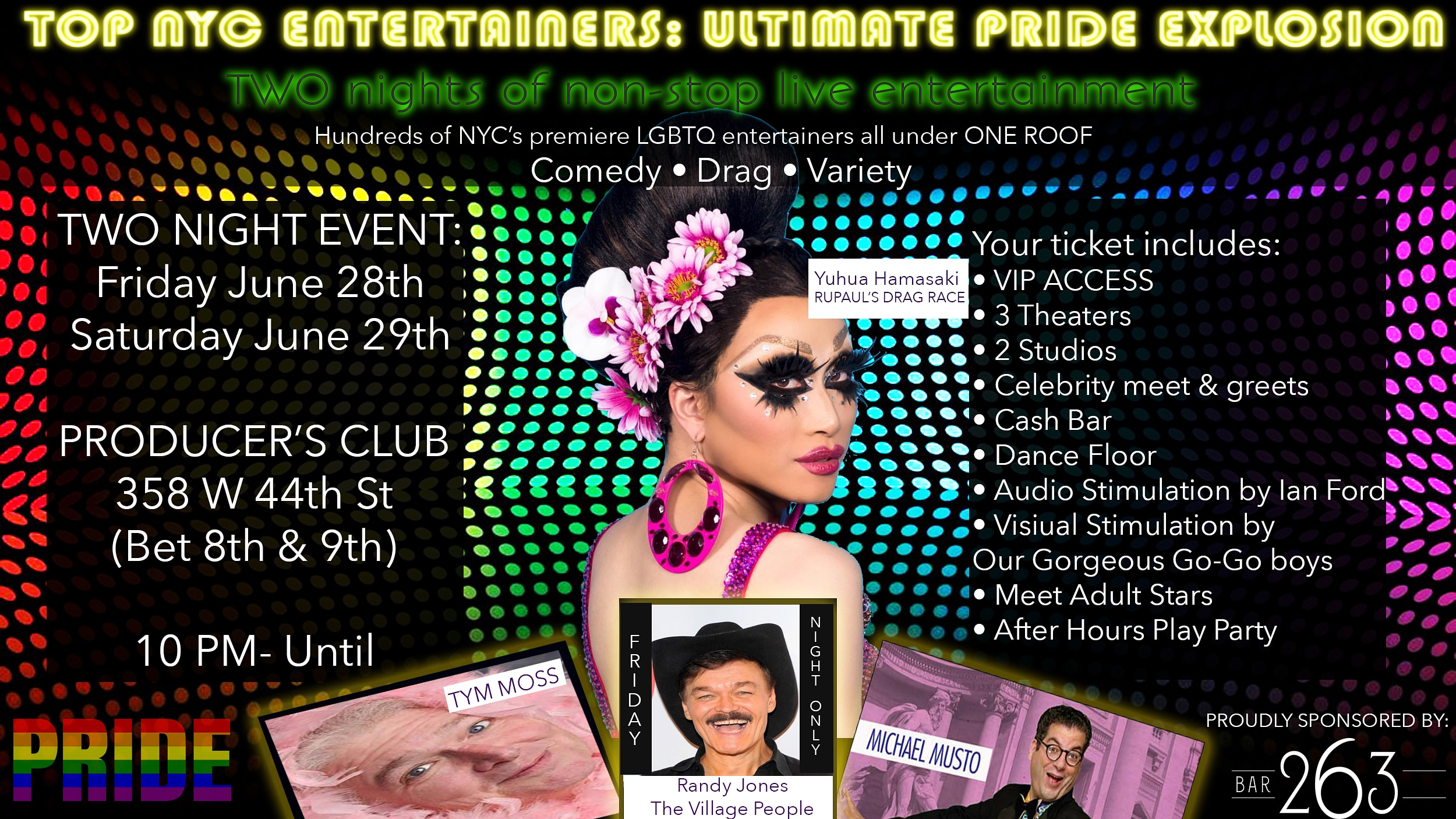 TOP NYC PRIDE ENTERTAINERS