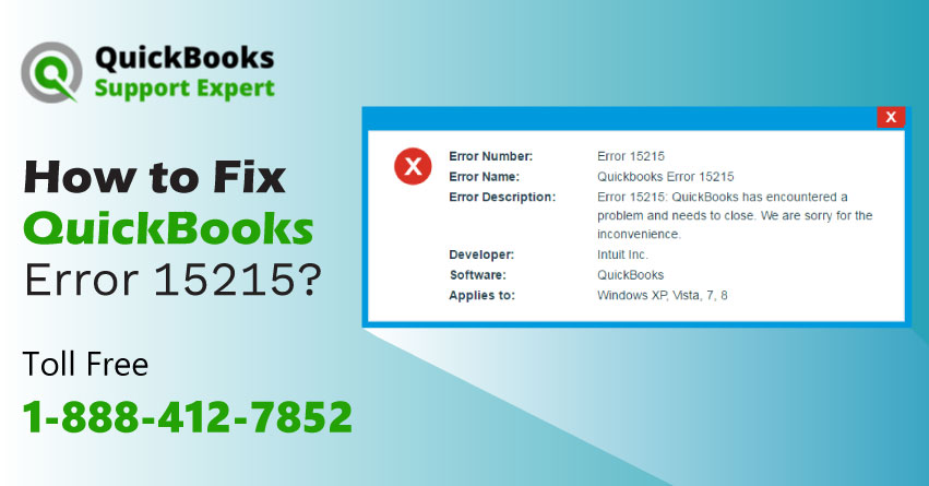 How to Fix QuickBooks Error 15215?|1-888-412-7852|QuickBooks Support Expert
