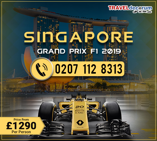 Book Singapore grand prix package deals and Singapore f1 package deals
