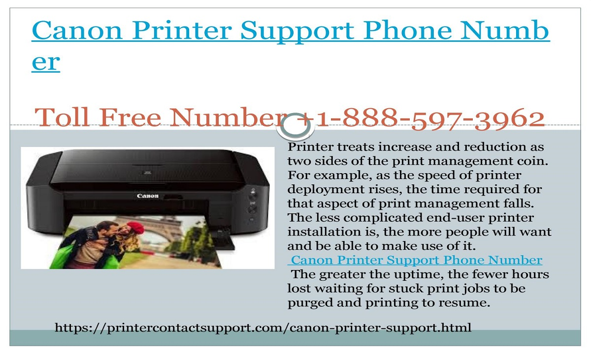 Canon Printer Tech Support Number +1-888-597-3962