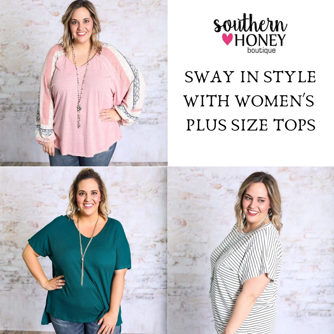 Buy Awesome Women's Plus Size Tops at an affordable Price only from Southern Honey Boutique