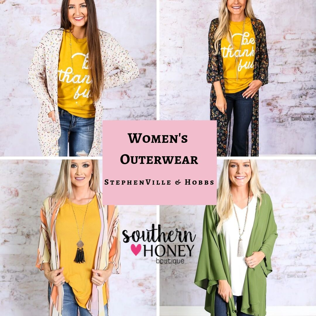 Get Sophisticated Women's Outerwear by Southern Honey Boutique