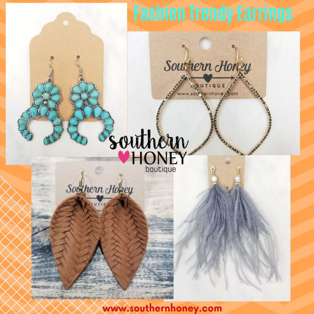 Feel Stunning with Trendy Fashion Earrings from Southern Honey Boutique
