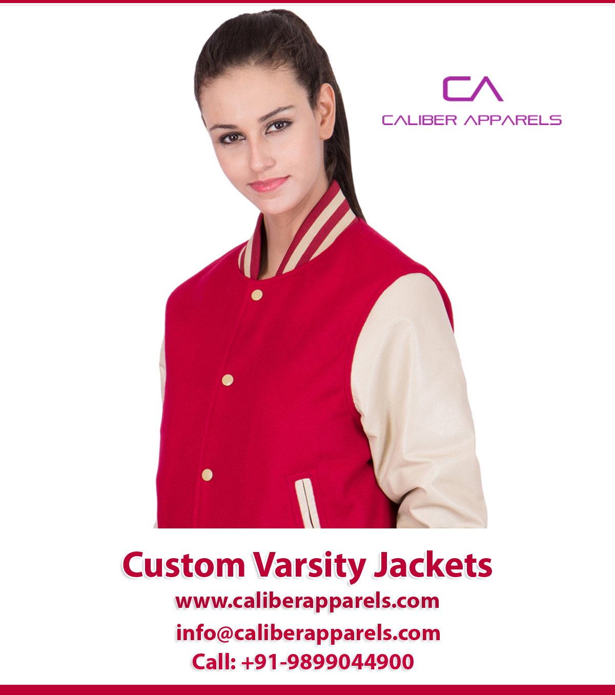 Get Your Favorite online Custom Varsity Jacket from Caliber Apparels at your budget.