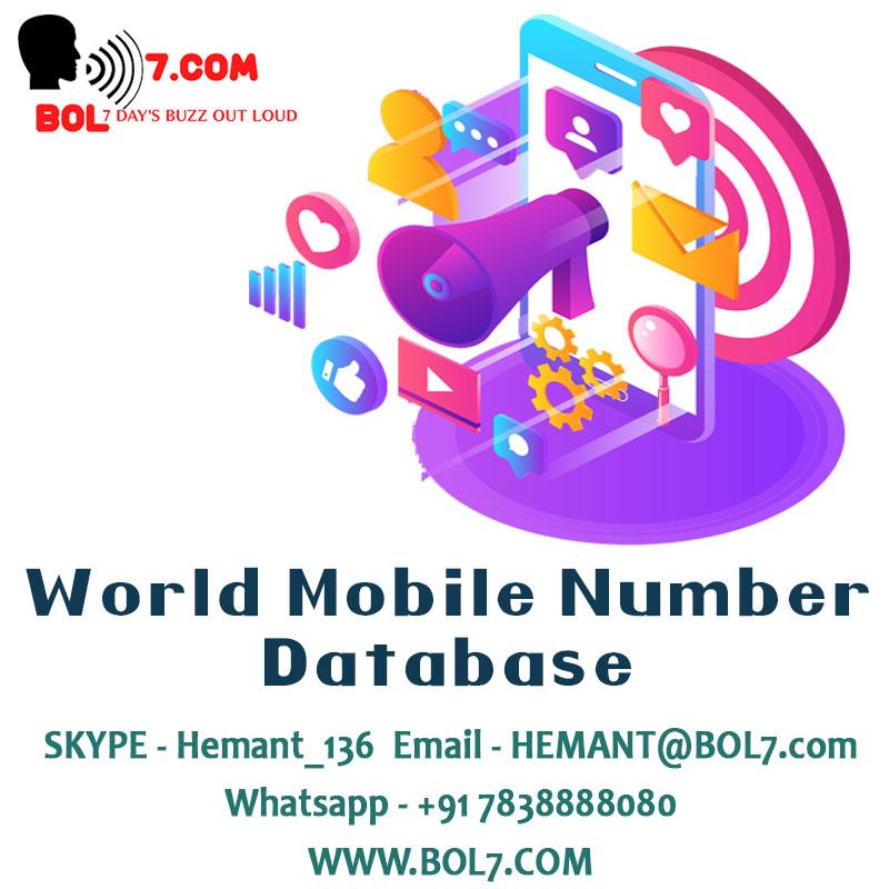 World Wide Mobile Number Database –  UK