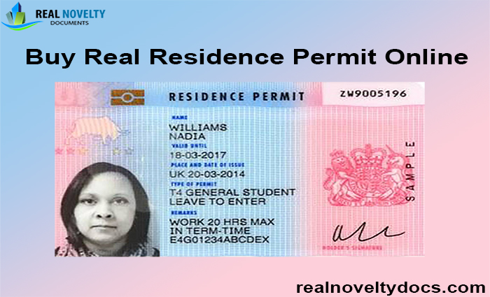 Buy Real Residence Permit Online