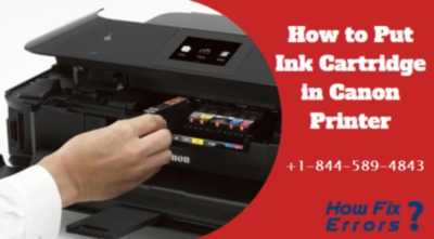 How to Put Canon Printer Ink Cartridge?  Call @ +1-844-589-4843
