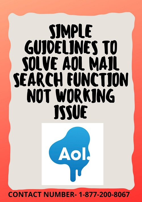 Important tips to resolve AOL mail search function not working