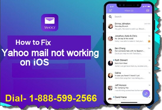 Yahoo Mail iOS Not Working | 1-888-599-2566