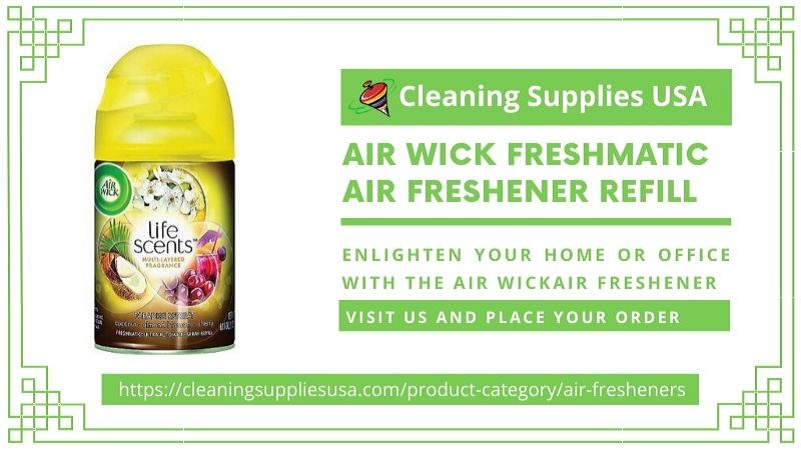 Get Air Wick Air Freshener & Freshmatic Refill at Cleaning Supplies USA