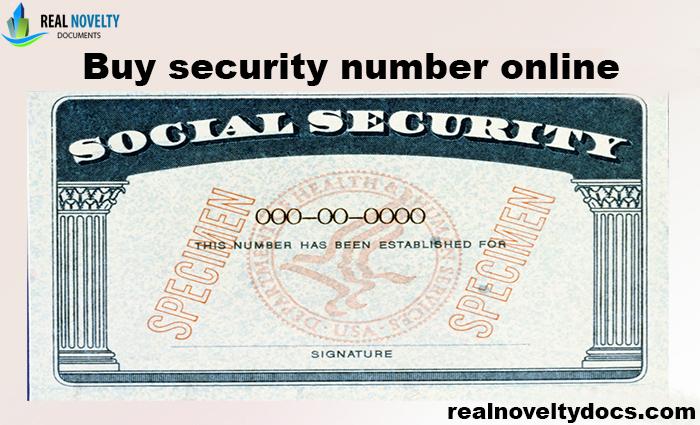 Buy Social Security Number Online