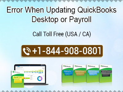 Error when updating quickbooks desktop or payroll