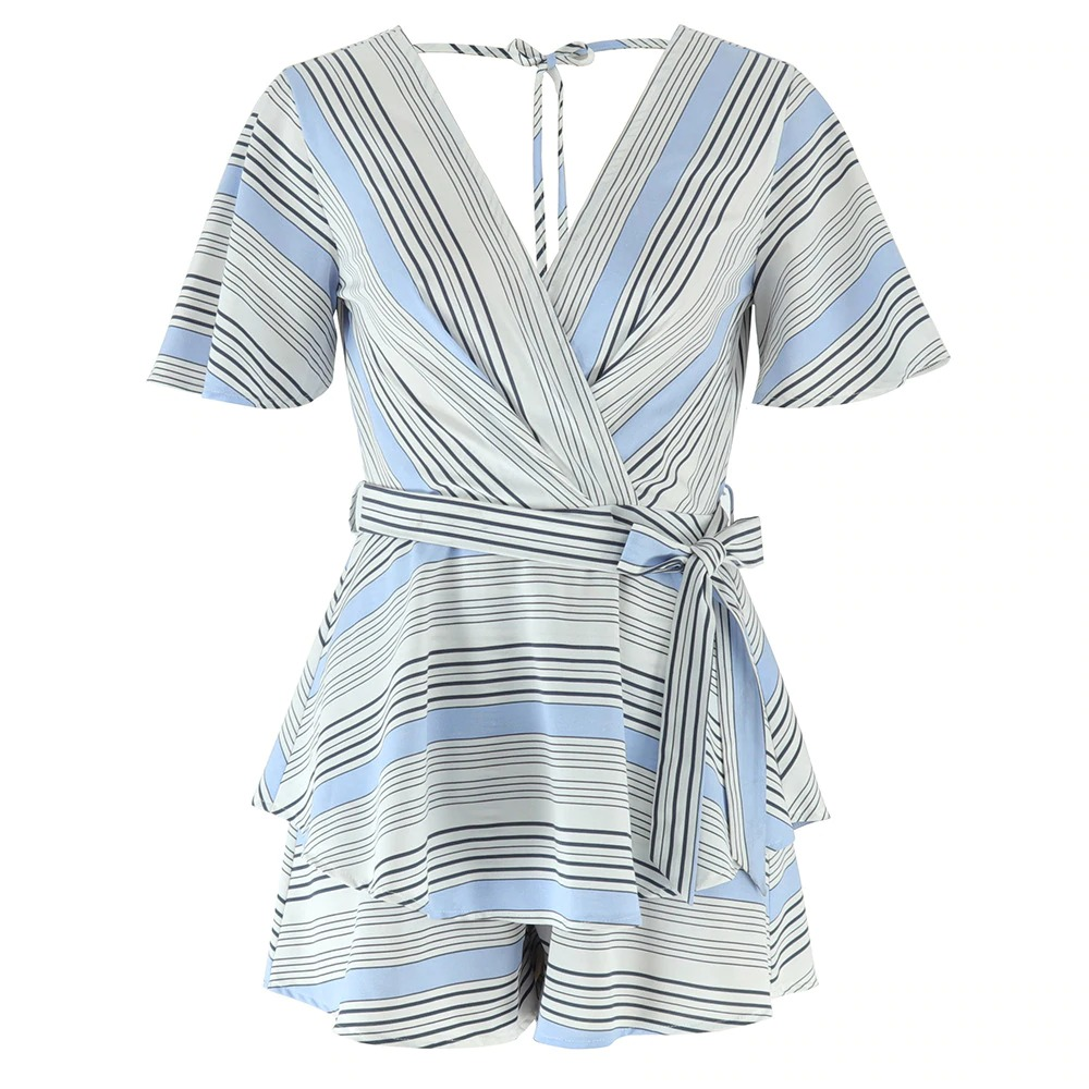 Striped Rompers Ladies Sexy Summer