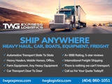 Got Freight? Need Shipping? Call Us Today For Quality Service