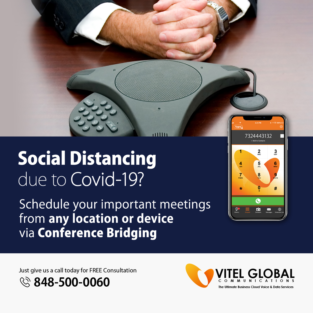 Schedule Important MEETINGS From Any Location Or Device With Vitel Global's CONFERENCE BRIDGING