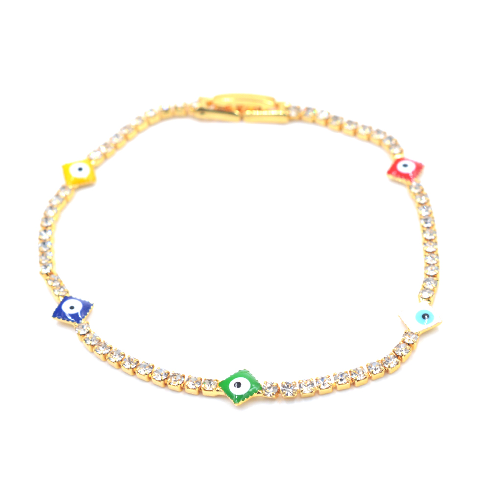 Beautiful Cubic Zirconia Evil Eye Bracelets