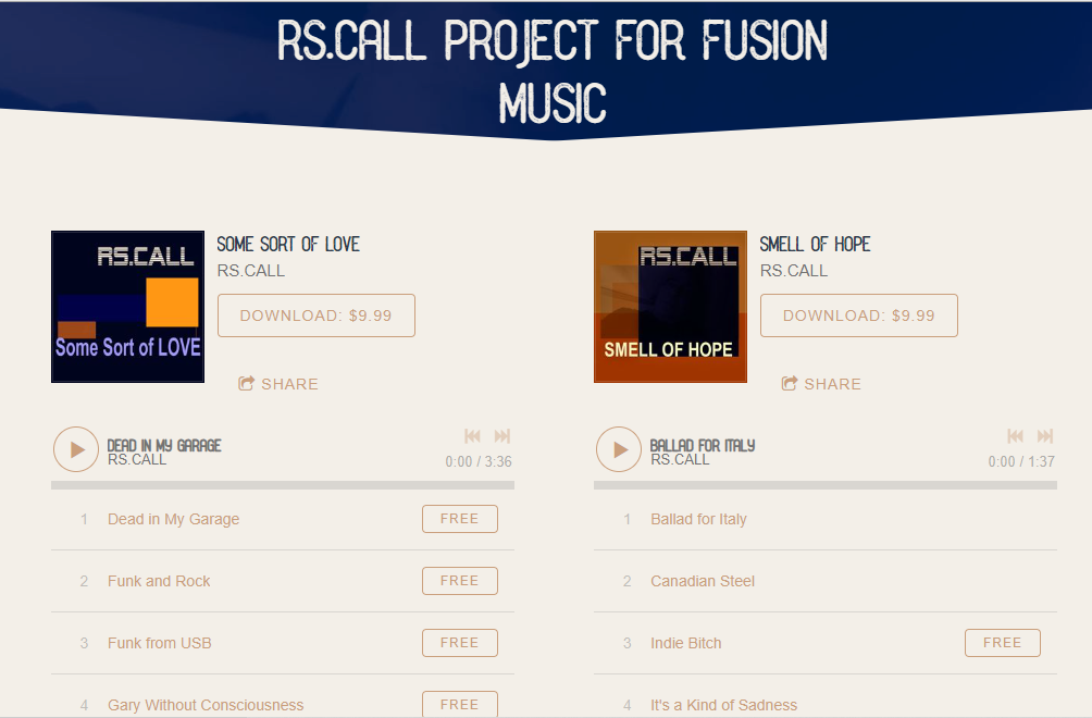 RS.CALL Project for FUsion music