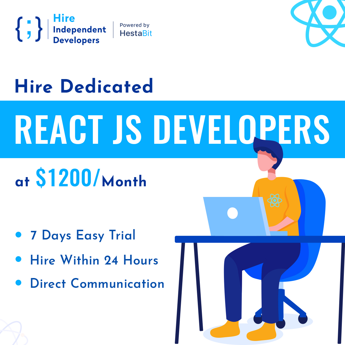 Hire React JS Developers | Hire Within 24 Hours | HireIndependentDevelopers.Com