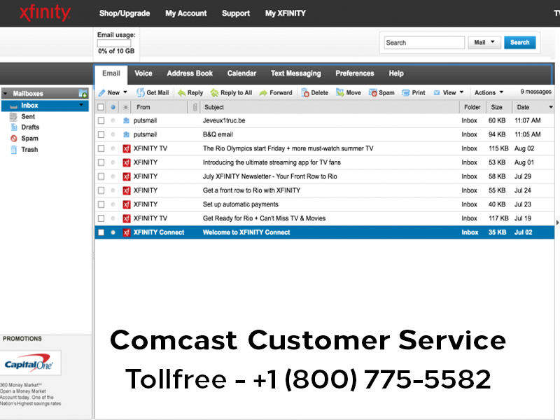 Unable to send emails by Comcast account